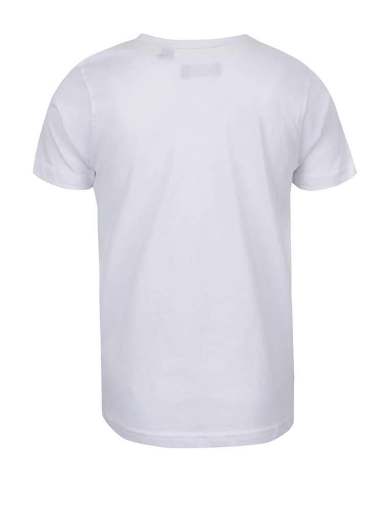 Tricou alb Blue Seven din bumbac cu print