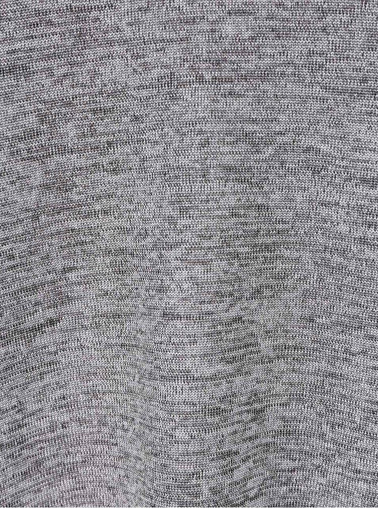 Bluză gri melanj choker Dorothy Perkins