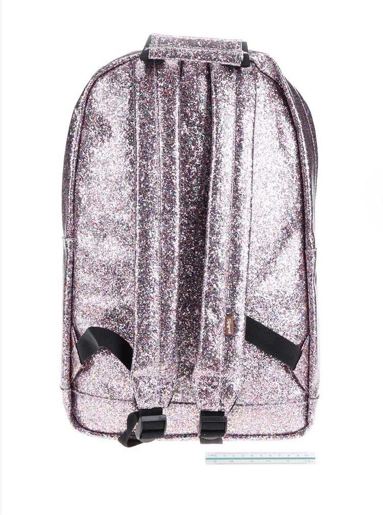 Růžový dámský třpytivý batoh Spiral Jewels 18 l