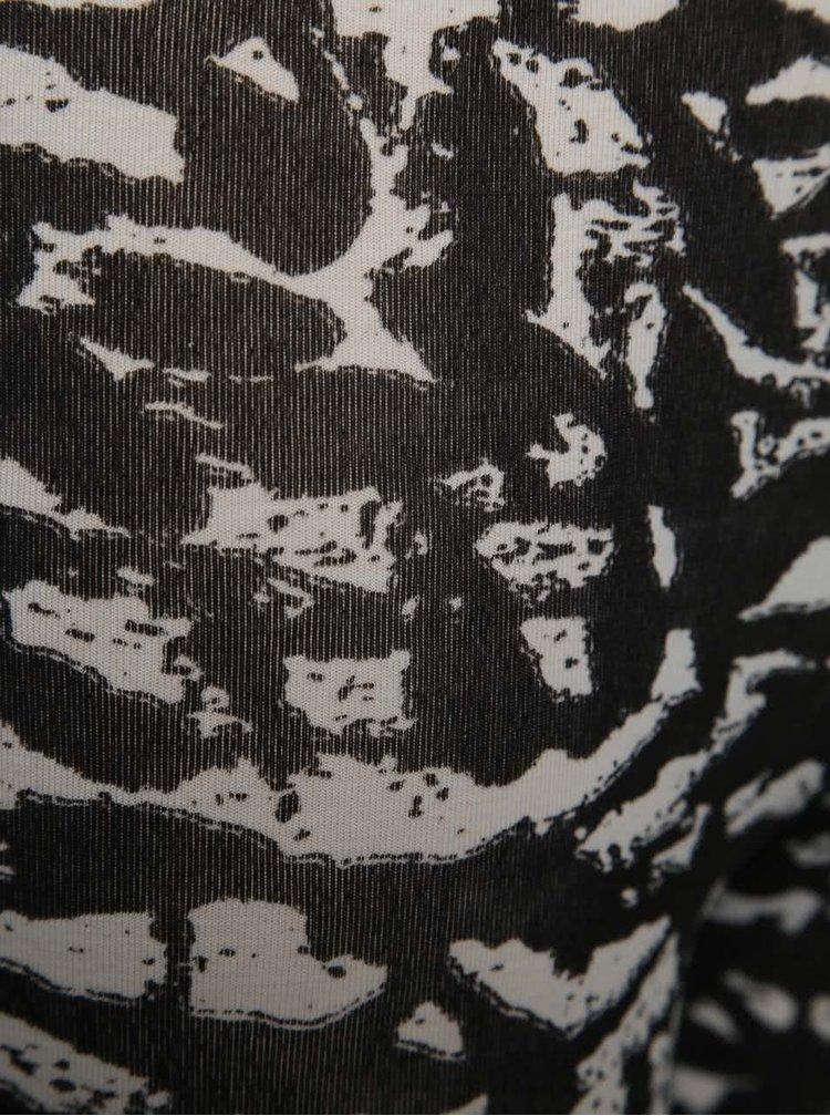 Bílo-černé holčičí vzorované legíny Blue Seven