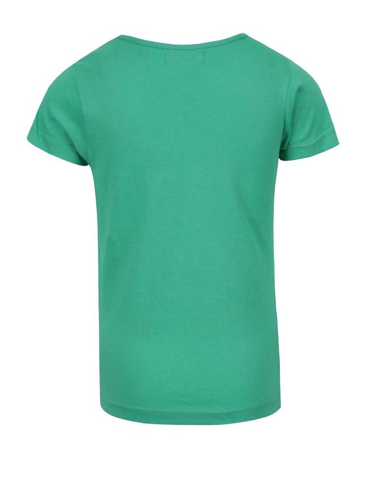 Zelené holčičí tričko s potiskem Blue Seven