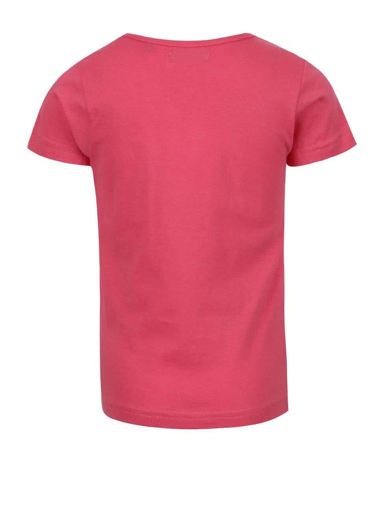 Tricou roz Blue Seven din bumbac cu print