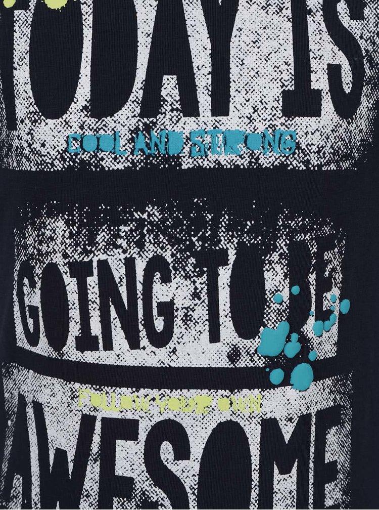Tmavě modré klučičí triko s potiskem Blue Seven