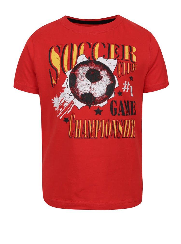 Tricou roșu Blue Seven din bumbac cu print pentru băieți