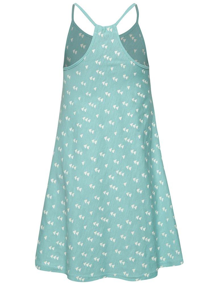 Rochie albastru deschis Blue Seven din bumbac cu model