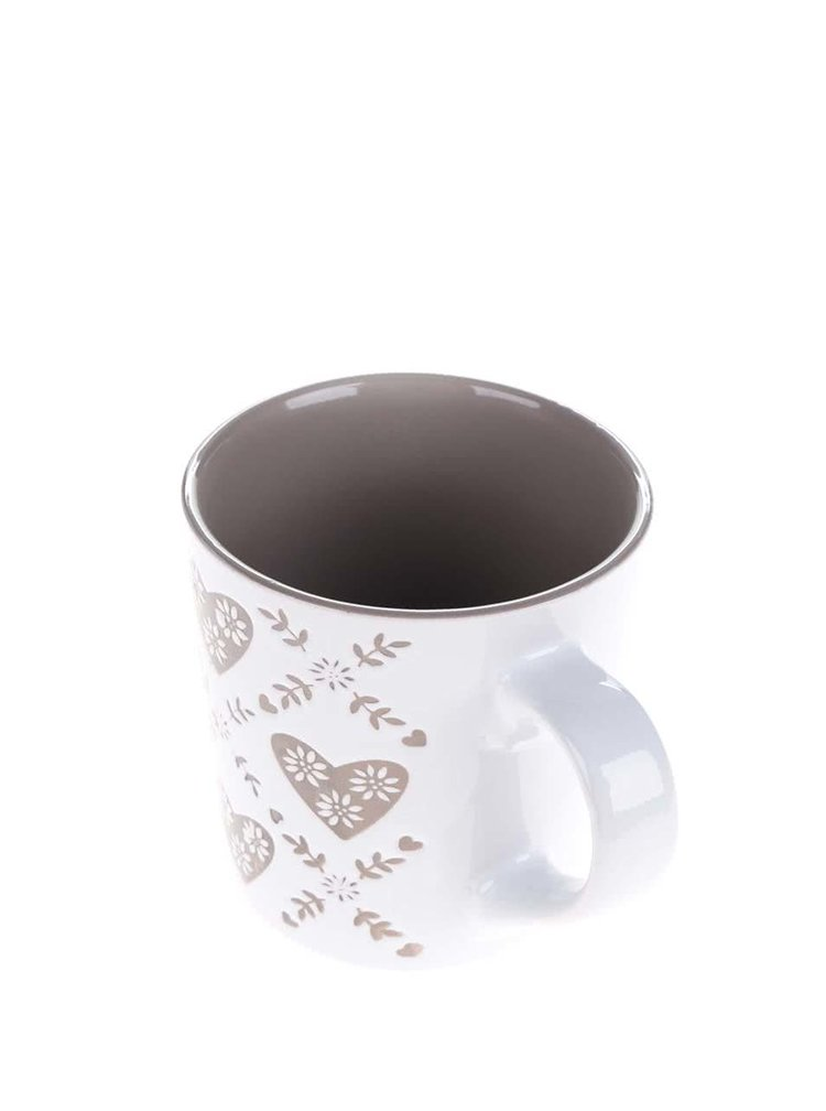 Krémovo-hnědý keramický hrnek s motivem Dakls