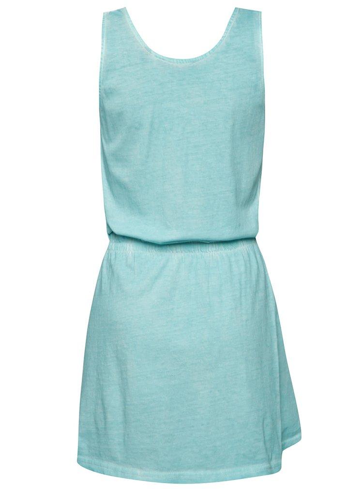 Rochie albastru deschis Blue Seven din bumbac cu print