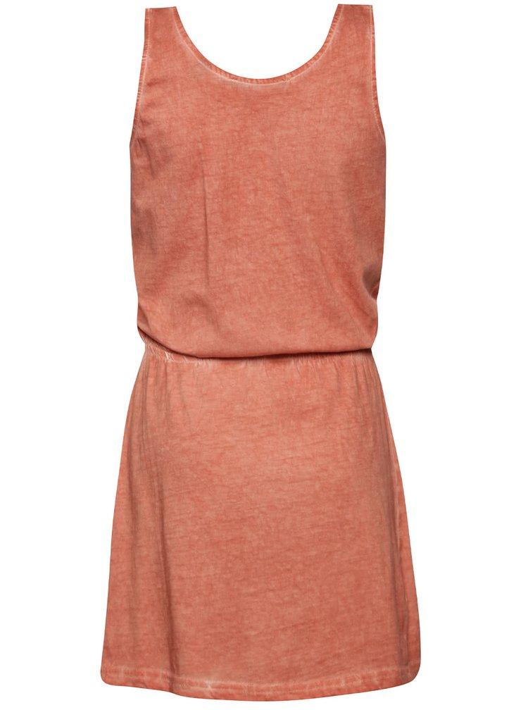 Červené holčičí šaty s potiskem Blue Seven