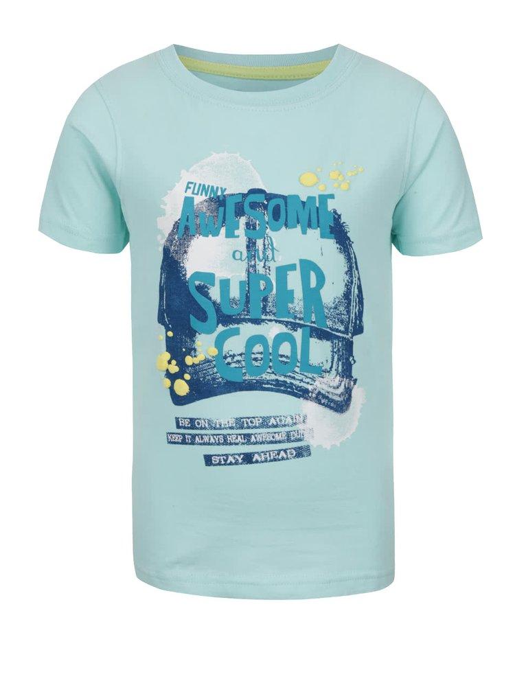 Tricou albastru deschis Blue Seven cu print