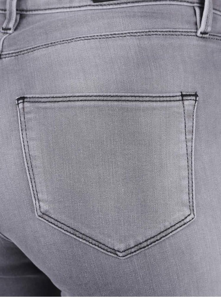 Šedé slim džíny s ozdobnými pyramidkami KARL LAGERFELD