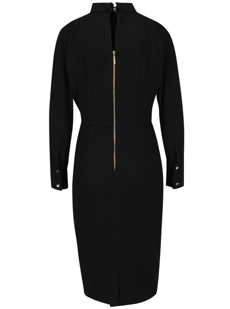 Černé šaty s nízkým rolákem Closet