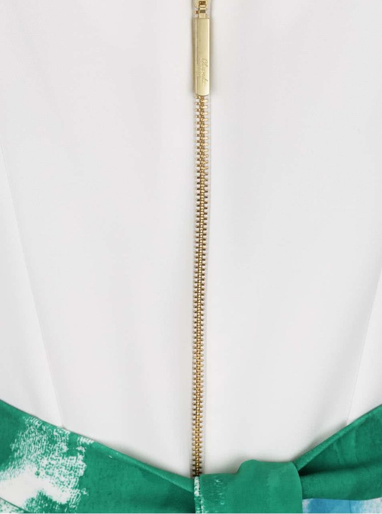 Krémovo-zelené vzorované šaty Closet