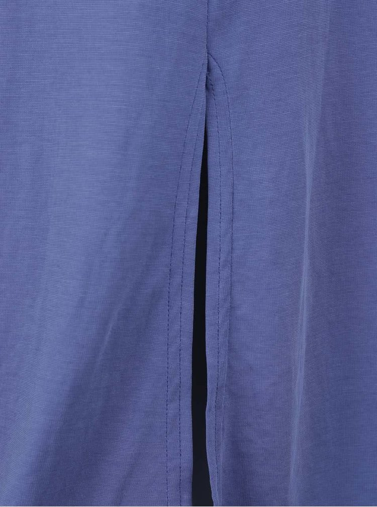 Modré maxišaty se zavazováním v pase Closet