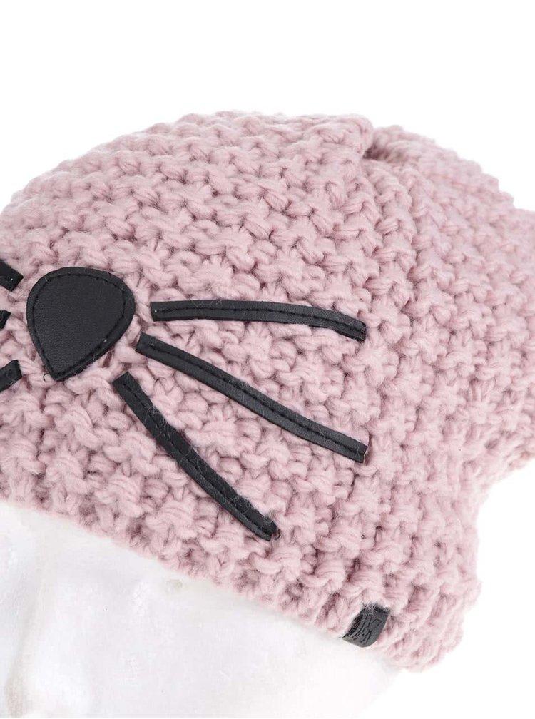 Starorůžová čepice s detaily KARL LAGERFELD