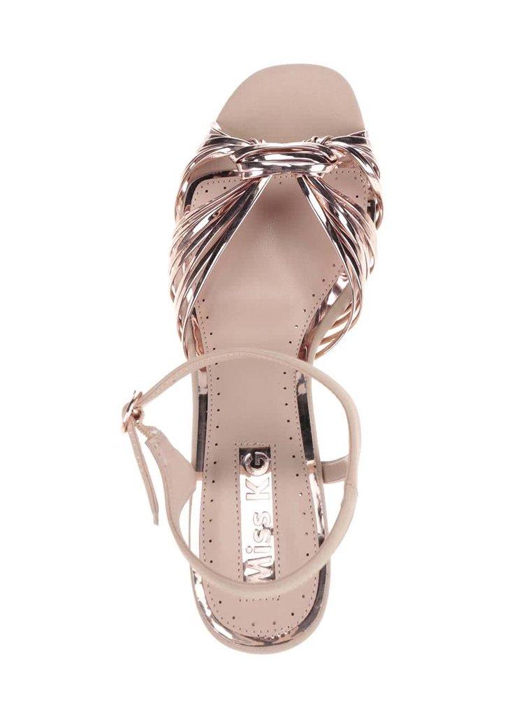 Sandale aurii Miss KG cu barete multiple