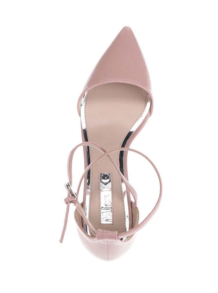 Starorůžové sandálky na podpatku Miss KG
