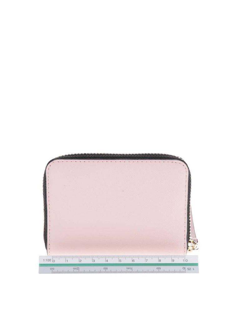 Světle růžová kožená peněženka KARL LAGERFELD