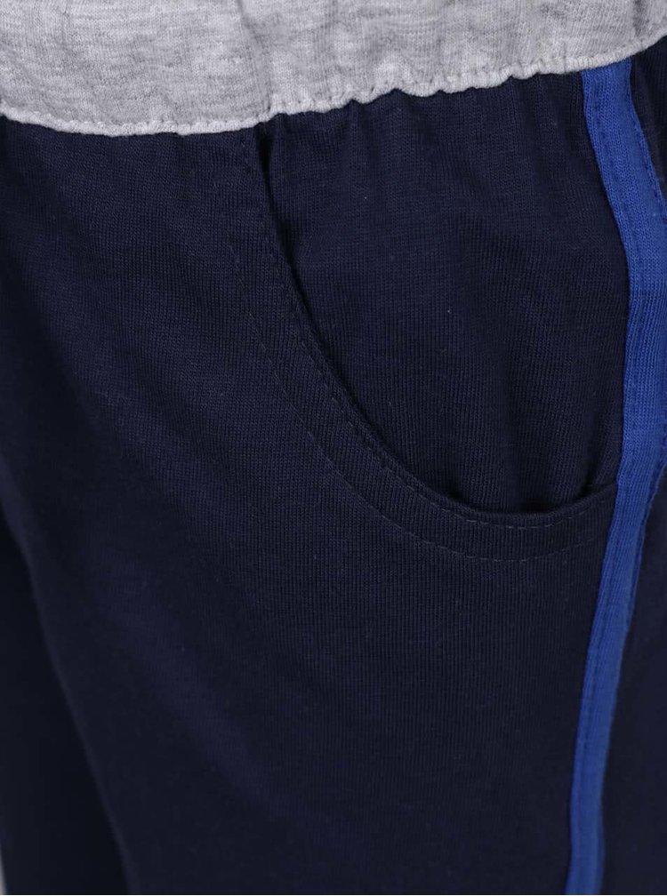 Set tricou & pantaloni scurti albastru & albastru inchis North Pole Kids din bumbac cu print