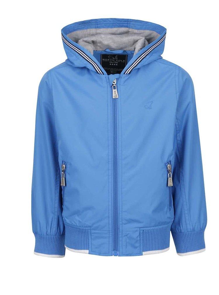 Jachetă albastră North Pole Kids cu logo și detaliu pentru băieți