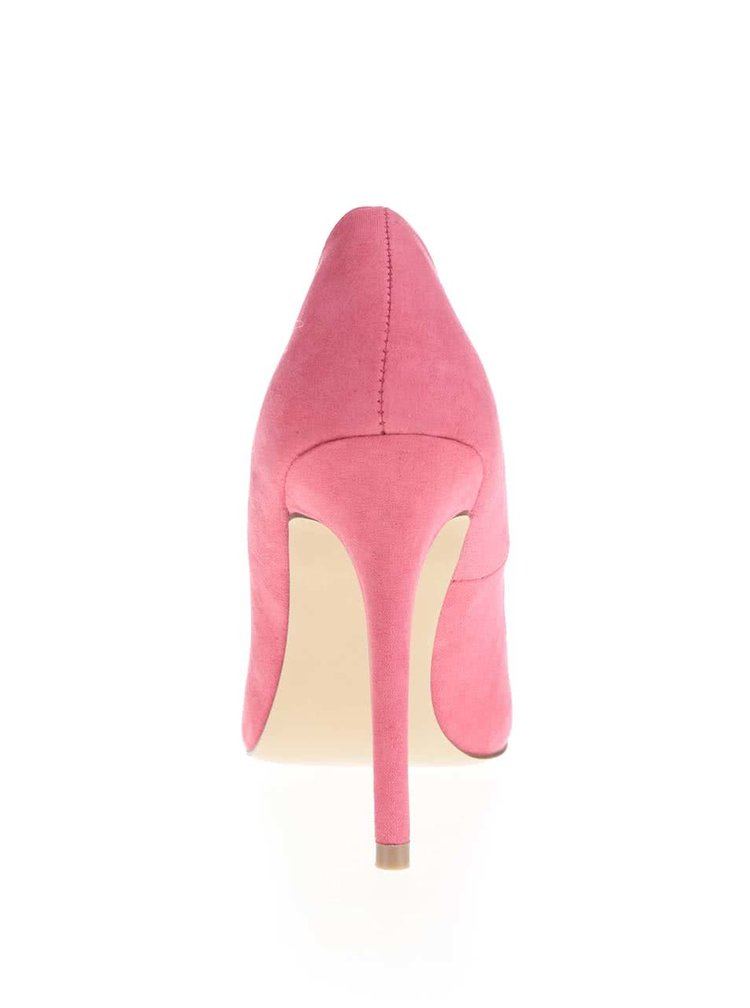 Pantofi Miss Selfridge roz cu toc înalt