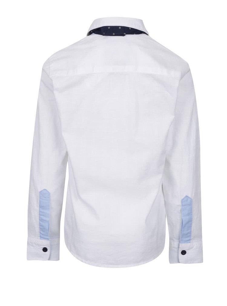 Bílá klučičí košile s kravatou North Pole Kids