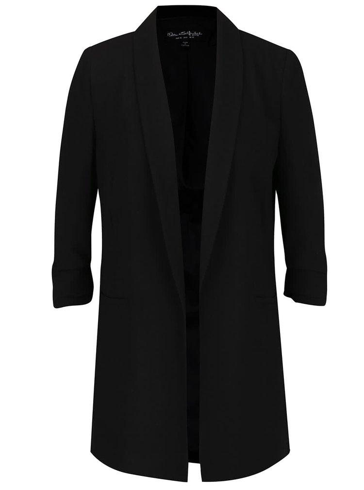 Palton negru Miss Selfridge cu maneci trei sferturi