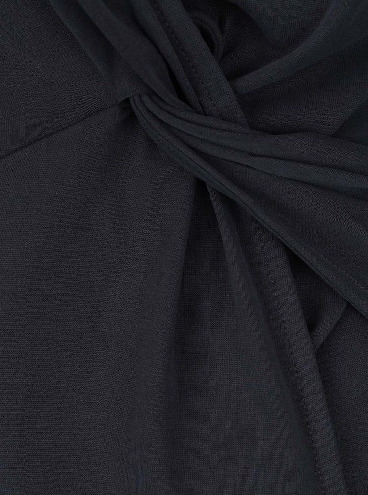 Tmavě šedý top s odhalenými zády Miss Selfridge