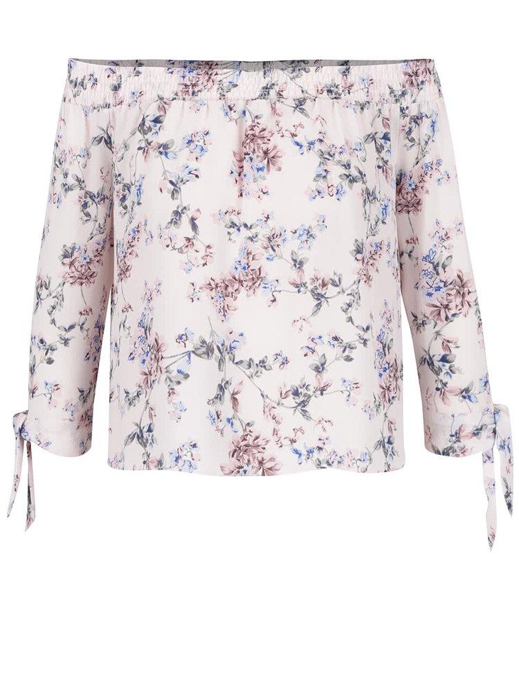 Bluza roz cu model Miss Selfridge Petites cu decolteu pe umeri