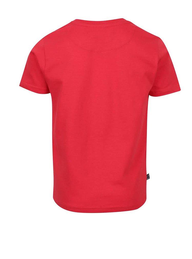 Tricou roșu North Pole Kids din bumbac cu print