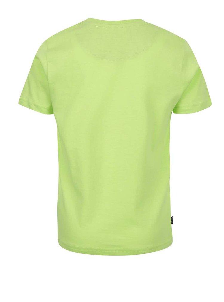 Tricou verde North Pole Kids din bumbac cu print
