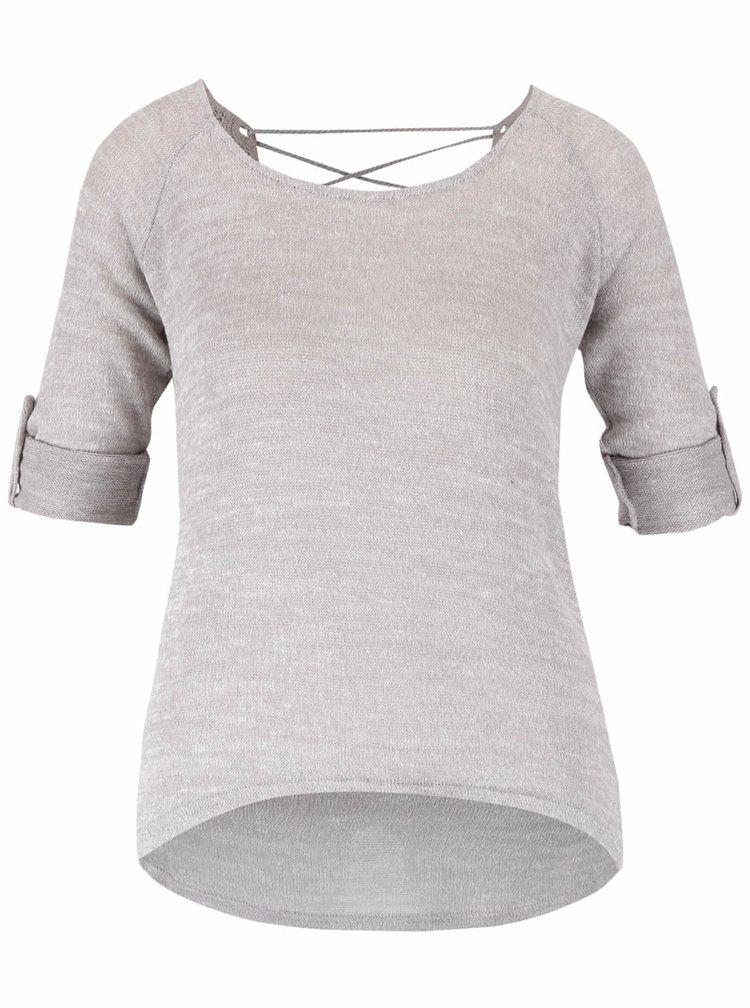 Světle šedý top s 3/4 rukávy Haily´s Annie