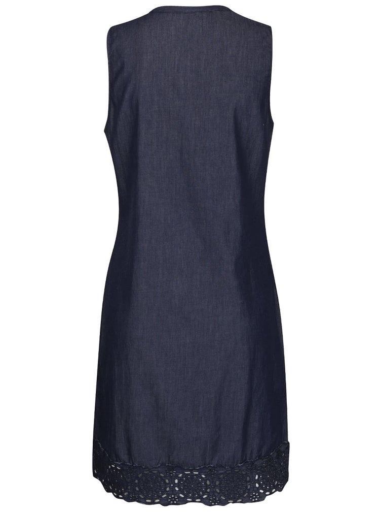 Rochie albastră Desigual Medes cu broderie