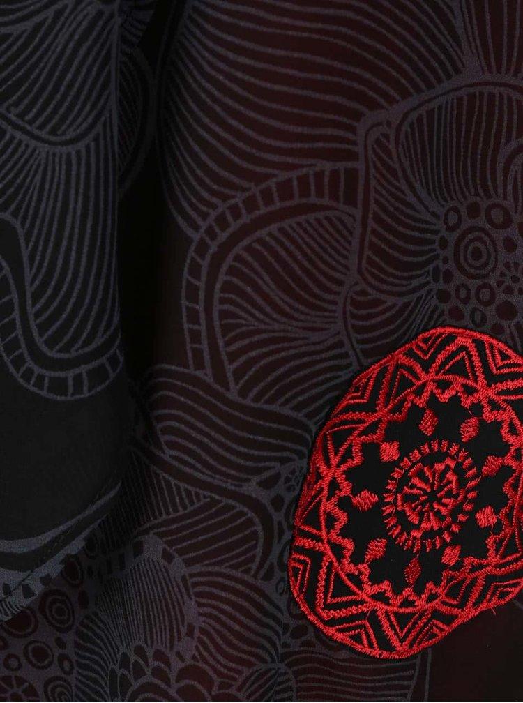 Rochie roșie cu negru Desigual BlackVille Straps