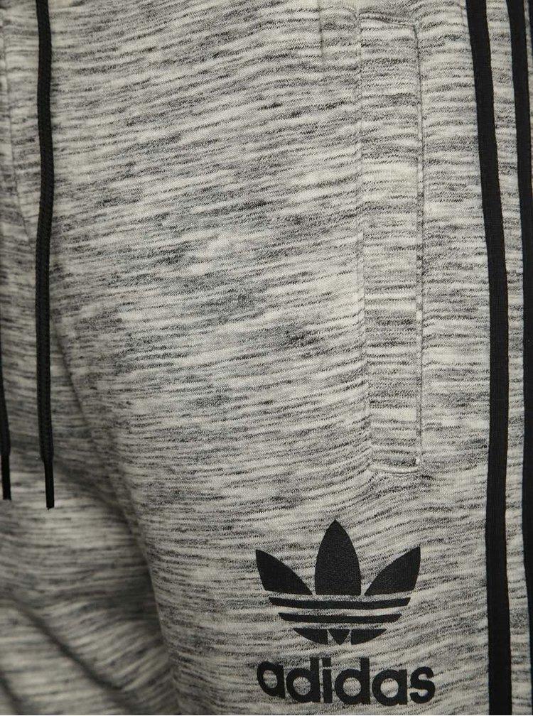 Šedé pánské žíhané tepláky adidas Originals Clfn
