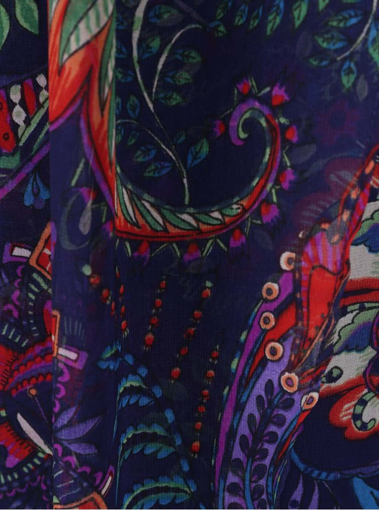 Rochie maxi albastră Desigual Evita cu model