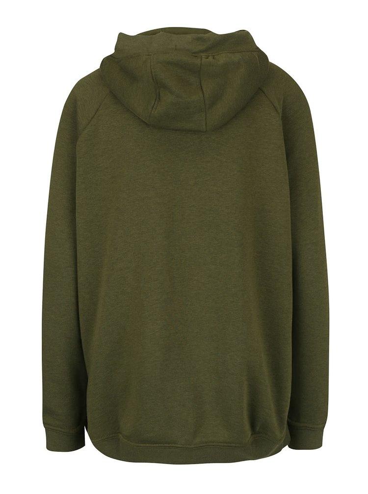 Zelená dámská mikina s kapucí Nike Sportswear Modern Cape