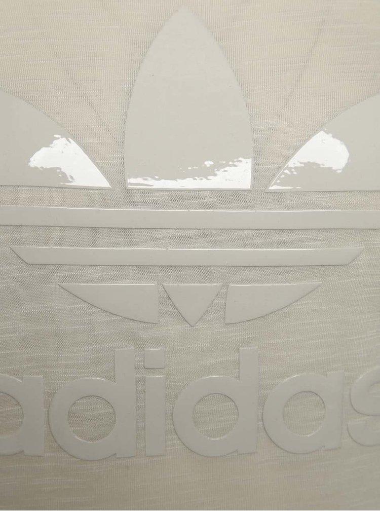 Tricou bej adidas Originals cu logo