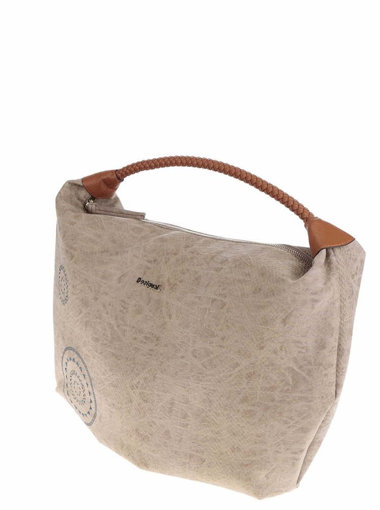 Béžová velká kabelka Desigual Calypso Avignon