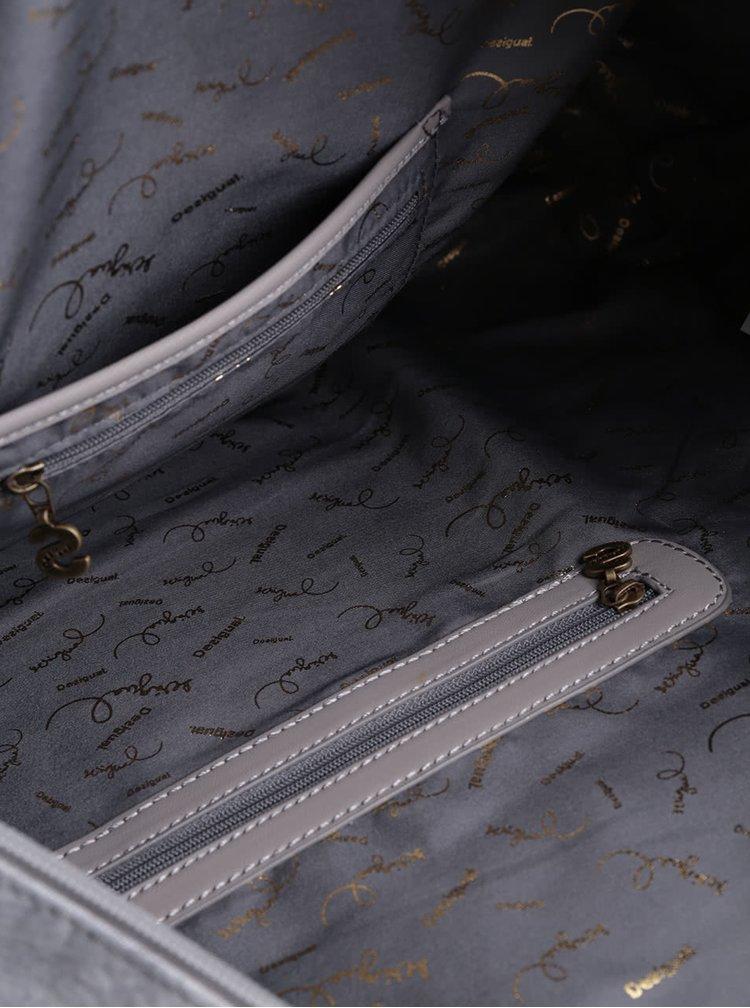 Šedá velká kabelka Desigual Avignon Caipiriña