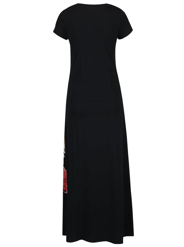 Rochie maxi neagra Desigual Julia cu model