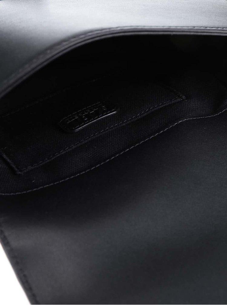 Černá kožená crossbody kabelka KARL LAGERFELD