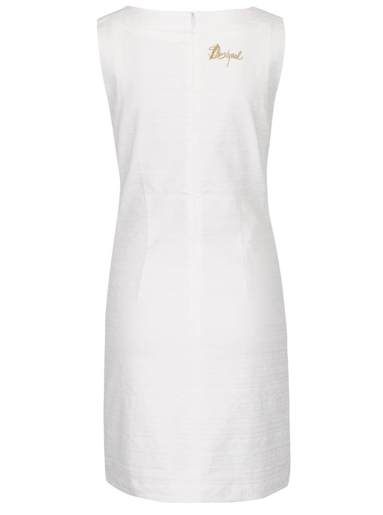 Krémové šaty s potiskem Desigual Tossa De Mar