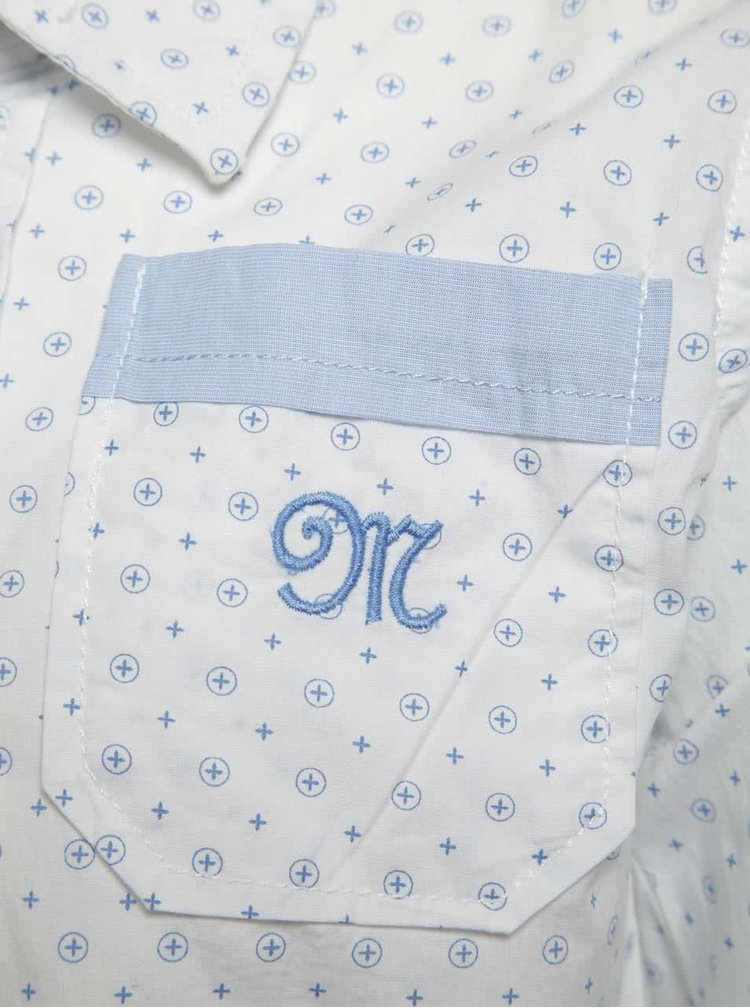Modro-bílá vzorovaná klučičí košile Mix´n Match