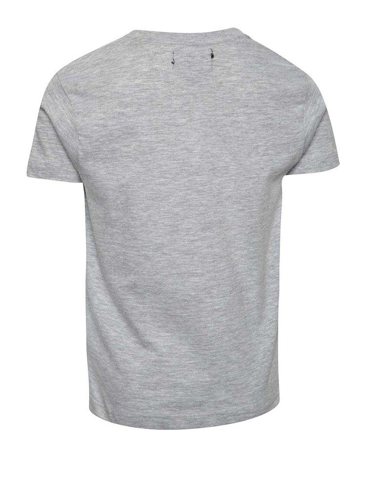 Tricou gri cu imprimeu leu Mix´n Match pentru băieți