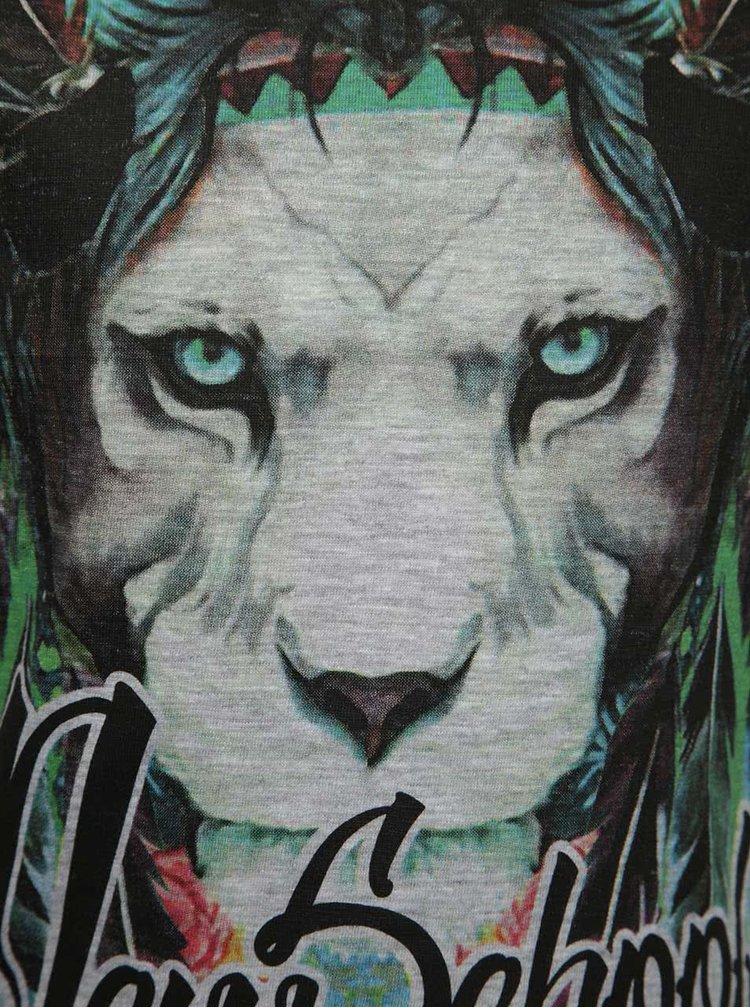 Šedé klučičí triko s barevným potiskem lva Mix´n Match