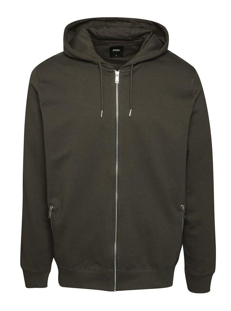 Khaki mikina s kapucí Burton Menswear London