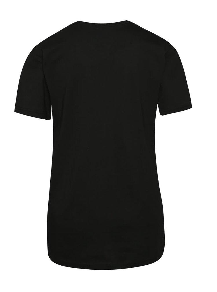 Tricou negru adidas Originals cu print
