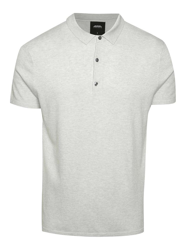 Tricou polo gri deschis Burton Menswear London