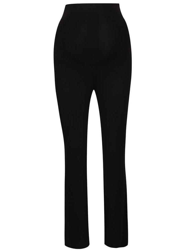 Černé těhotenské kalhoty s vysokým pasem Dorothy Perkins Maternity