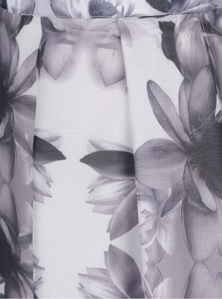 Fustă midi gri Dorothy Perkins cu imprimeu floral